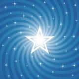 Fondo brillante chispeante de la estrella Foto de archivo libre de regalías