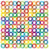 Fondo brillante colorido con los círculos del garabato Fotografía de archivo