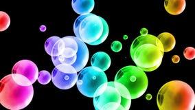 Fondo brillante colorido de las burbujas Fotos de archivo