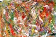 Fondo brillante colorido Los movimientos de la pintura puntos anaranjados en lona stock de ilustración