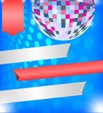 Fondo brillante con la bola de discoteca Foto de archivo libre de regalías