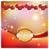 Fondo brillante con las bolas de la Navidad Foto de archivo libre de regalías