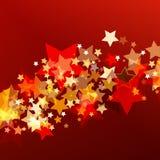 Fondo brillante con le stelle d'ardore astratte BAC di festa di vettore illustrazione di stock