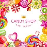 Fondo brillante con los caramelos libre illustration
