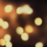 Fondo brillante de Bokeh de la Navidad de las luces del vintage Defocused de la noche Foto de archivo libre de regalías