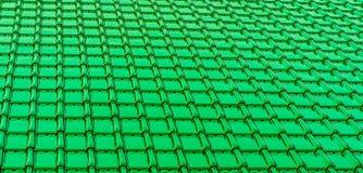 Fondo brillante de color verde oscuro moderno de la textura del embaldosado del tejado foto de archivo
