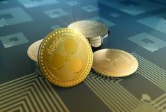 Fondo brillante de la crypto-moneda de la ondulación stock de ilustración