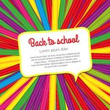 Fondo brillante de la escuela de lápices coloreados Fotos de archivo libres de regalías