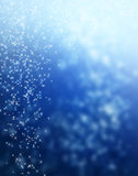 Fondo brillante de la estrella azul de la falta de definición Fotos de archivo libres de regalías