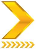 Fondo brillante de la flecha Imagen de archivo libre de regalías
