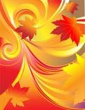 Fondo brillante de la hoja del otoño Imagenes de archivo