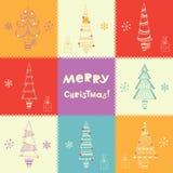 Fondo brillante de la Navidad Imagenes de archivo