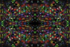 Fondo brillante de la Navidad con las luces Foto de archivo libre de regalías