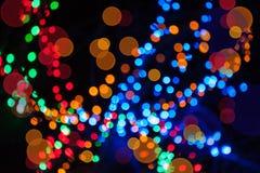 Fondo brillante de la Navidad con las luces Fotografía de archivo libre de regalías