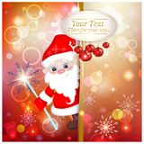 Fondo brillante de la Navidad con Santa Claus Imagenes de archivo