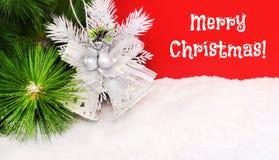 Fondo brillante de la Navidad con una alarma Imagenes de archivo