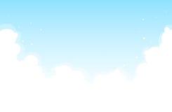 Fondo brillante de la nube Imagenes de archivo