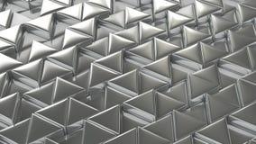 Fondo brillante de plata del mosaico Foto de archivo