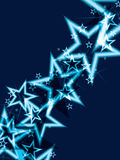 Fondo brillante del azul de la estrella Foto de archivo