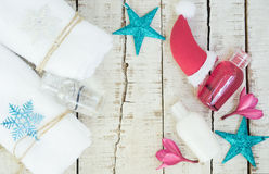 Fondo brillante del balneario de la Navidad Imagen de archivo libre de regalías