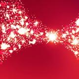Fondo brillante del bokeh abstracto del corazón Imagen de archivo libre de regalías