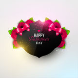 Fondo brillante del día del ` s de la tarjeta del día de San Valentín Fotografía de archivo libre de regalías