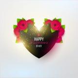 Fondo brillante del día del ` s de la tarjeta del día de San Valentín Foto de archivo libre de regalías