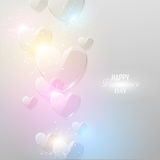 Fondo brillante del día del ` s de la tarjeta del día de San Valentín Imágenes de archivo libres de regalías