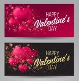 Fondo brillante del día del ` s de la tarjeta del día de San Valentín Imagen de archivo libre de regalías