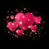 Fondo brillante del día del ` s de la tarjeta del día de San Valentín Vector Imagenes de archivo