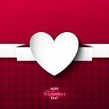 Fondo brillante del día del ` s de la tarjeta del día de San Valentín Fotos de archivo