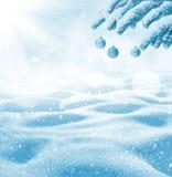 Fondo brillante del invierno Fotografía de archivo libre de regalías