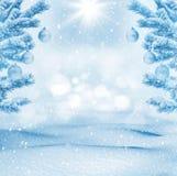 Fondo brillante del invierno Imágenes de archivo libres de regalías