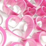 Fondo brillante del rosa y blanco de los corazones de la composición libre illustration