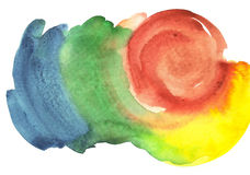 Fondo brillante del watercolour Fotografía de archivo libre de regalías