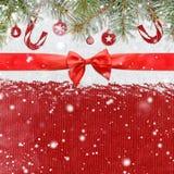 Fondo brillante di natale o del nuovo anno di Snowy Immagini Stock Libere da Diritti