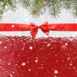 Fondo brillante di natale o del nuovo anno di Snowy Fotografie Stock
