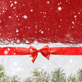 Fondo brillante di natale o del nuovo anno di Snowy Immagini Stock