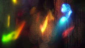 Fondo brillante psichedelico di Cyberpunk vibrante multicolore video d archivio