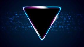 Fondo brillante retro del movimiento del triángulo del neón 80s