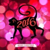 Fondo brillante tipográfico de la Feliz Navidad 2016 stock de ilustración
