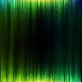 Fondo brillante verde del extracto del vector del equalizador Fotografía de archivo libre de regalías