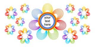 Fondo brillantemente colorato con i fiori dell'arcobaleno illustrazione vettoriale