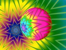 Fondo brillantemente colorato della stella Fotografia Stock
