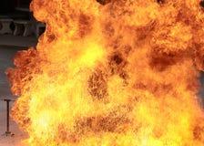 Fondo bruciante di struttura della fiamma del fuoco della fiammata Immagine Stock Libera da Diritti