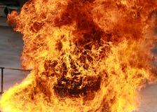 Fondo bruciante di struttura della fiamma del fuoco della fiammata Immagine Stock