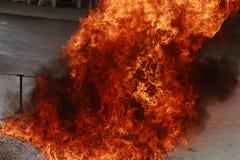 Fondo bruciante di struttura della fiamma del fuoco della fiammata Immagini Stock Libere da Diritti