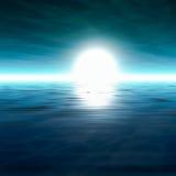 Fondo brumoso del sol del mar ilustración del vector