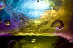 Fondo - burbujas de cristal Imagen de archivo libre de regalías