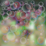 fondo, burbujas de jabón ilustración del vector